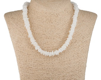 White Puka Chip Shells Necklace