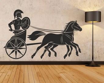 Ancient Greece Wall decal, Greek art wall decal, Greek warrior wall vinyl, Wall decal stickers, Decor Living Room Stylish Decoration 165