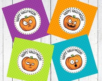 pumpkins tags printable labels gift - Pumpkins Tags Printable
