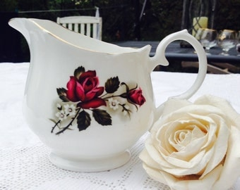 Darling Little Red Rose Vintage Pall Mall Creamer