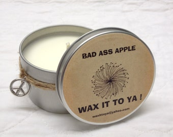 Bad Ass Apple 8oz Soy Candle