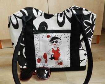 Loralie shoulder bag, Handmade tote bag