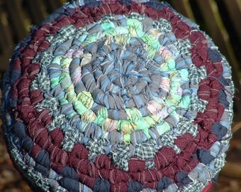 handwoven recycled fabric hat