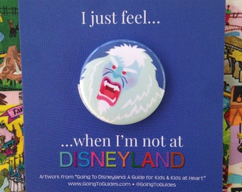 Abominable Snowman Button