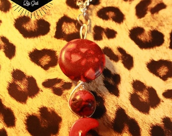 """Handmade, Wirewrapped """"Blood Moon"""" necklace"""