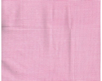 Fat Quarter, Recycle Fabric, PK1182RF, 100% Cotton Fabric, Pink, White  Check