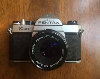 Pentax K1000 Asahi with 50mm 1:2 lens