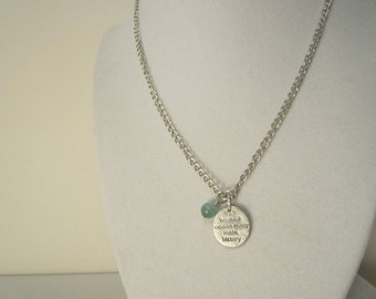 Charm Necklace for Ovarian Cancer *Charity Listing* Stamped Charm