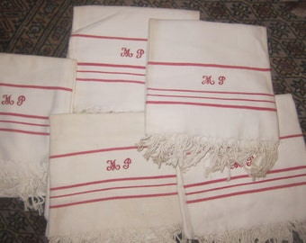 tea towels, old cotton towels