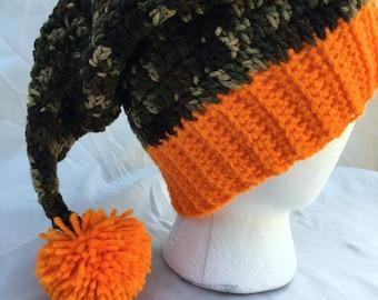 Camo Santa Hat, Santa Hat, Santa Claus Hat, Christmas Hat, Crochet Santa Hat, Christmas, Adult Christmas Hat, Santa, Christmas