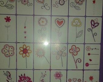 24 Heart and Flower Embroidery Designs