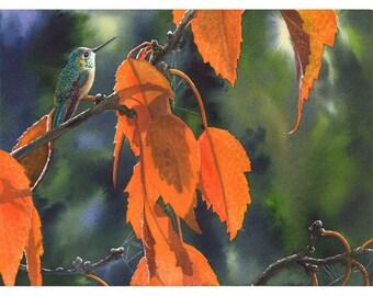 "Art card- ""Bright Orange Leaves"""