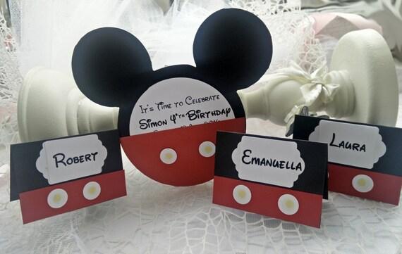 10 invitation anniversaire de mickey mouse fait la main. Black Bedroom Furniture Sets. Home Design Ideas