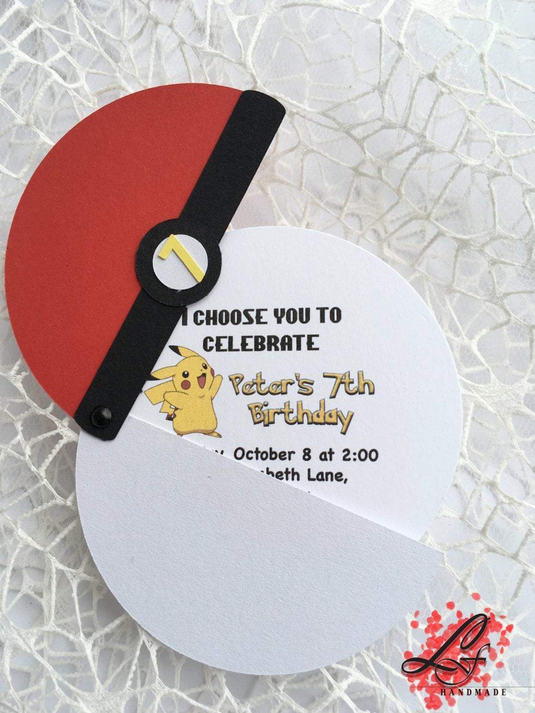 Pokemon Birthday Invitations Pokemon Party by LusyFashionJewelry