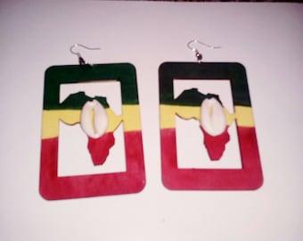 Rasta Africa  earrings