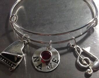 Piano Charm Bracelet