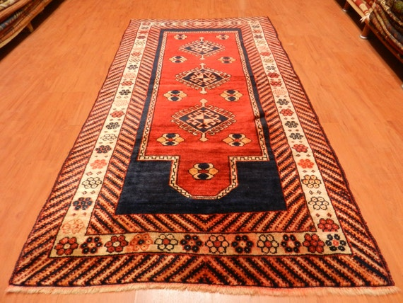 bright multi color vintage area rug 3 39 3 x 6 39 2 by silkroadrugs. Black Bedroom Furniture Sets. Home Design Ideas