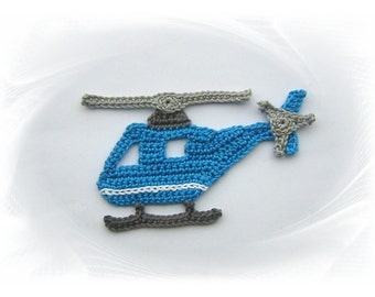 crochet applique, helicopter, crochet, Häkelapplikatio, n patches, helicopter