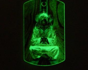 "Glow ""Hoffman sport club"" Keychain Psychedelic handmade souvenir Glow in the dark"