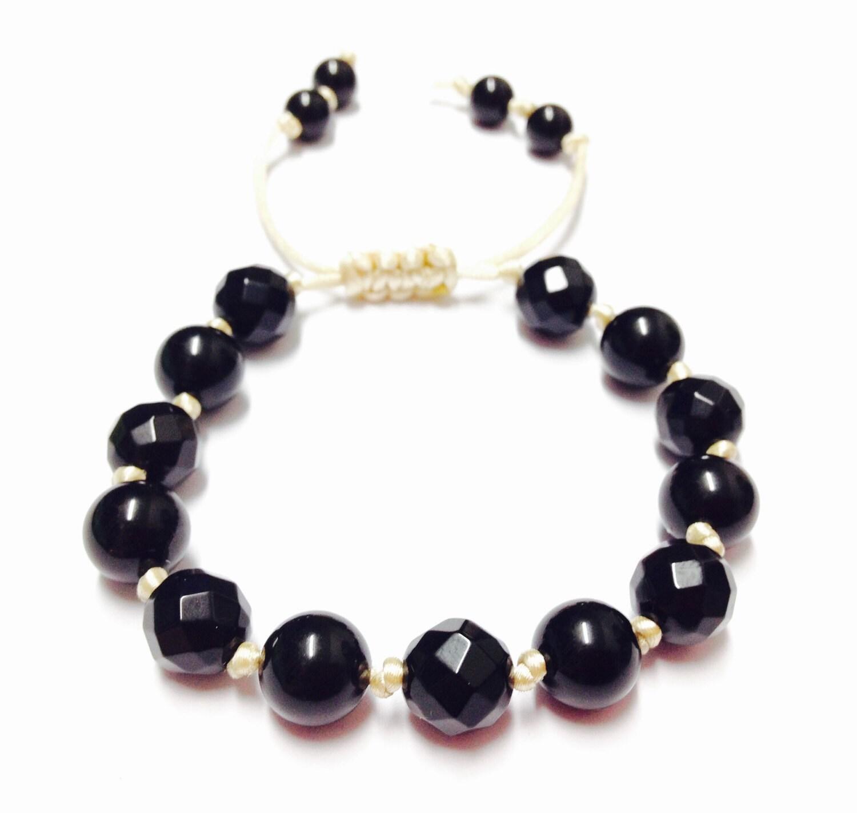 black onyx bracelet black onyx gemstone bracelet black