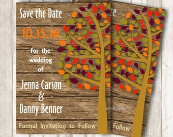 Save the Date Announcement Save the Date Card Fall Wedding Save the Date Printable Save the Date Fall Save the Date Autumn Wedding Card SD10