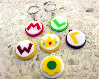 Super Mario Bros logos - Keychains