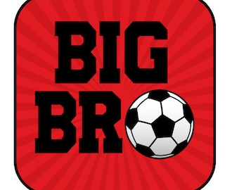 Big brother soccer iron on design