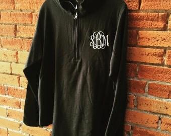 1/4 Zip Black Pullover