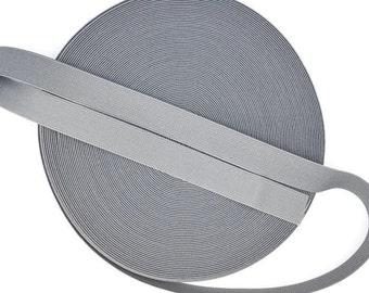 20 Meters Medium Grey 1 inch (25mm) Suspender Webbing / Waistband Elastic