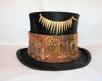 Unique steampunk top hat, size 57