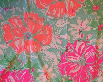 Poolside Blue Beach Walk Lilly Fabric