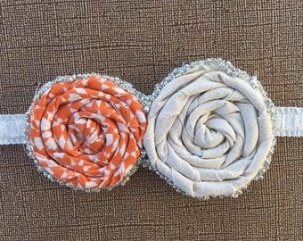 Rosette fabric headband
