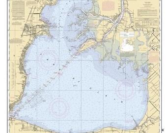 2011 Nautical Map of Lake Saint Clair