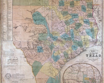1853 Map of the State of Texas