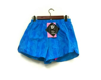 1980s funky fresh running shorts dead stock// 80s running shorts neon DuPont running shorts // 1980s nylon shorts // 80s hipster shorts