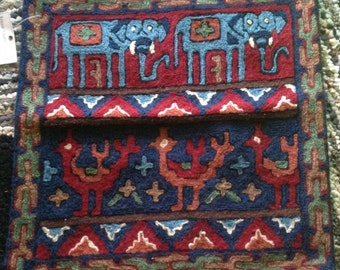 Kashmiri, hand embroidered, chain-stitched, pillowcase