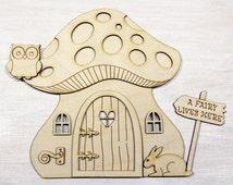 Popular items for mushroom fairy house on etsy for Hallmark fairy door