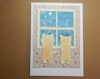 Sweet Cat and Dog Card