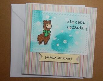 Cute Alpaca Card