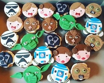 Star Wars edible cupcake toppers