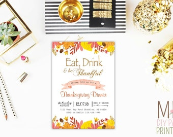 Glitter thanksgiving,Fall thanksgiving invites, turkey invitation party, Printable Turkey Dinner Thanksgiving Invite