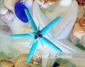 Tahiti Blue jeweled starfish Beach Seaside Nautical Wedding Decor