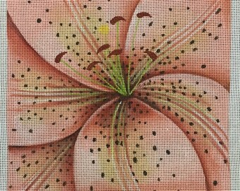 Day Lily needlepoint canvas