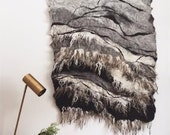 Felted Wool Wall hanging with Raw Wool