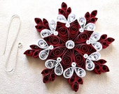 Christmas handmade paper quilled  snowflake, ornament Snowflake, Quilled snowflake, Christmas tree ornament, Gift
