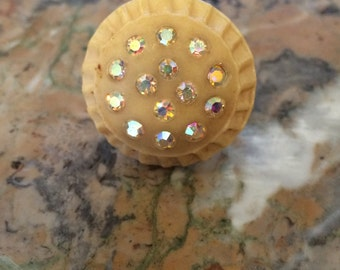 Vintage Button Ring