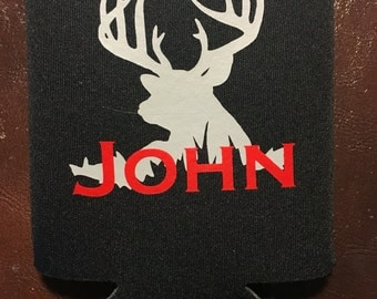 Personalized deer can cooler