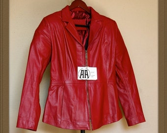 Laurie: Light weight, Full grain Traditional Leather Jacket for Women