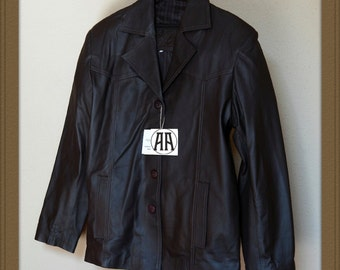 Alvaro: Light weight, Full grain Calf Skin Leather Jacket for Men
