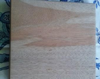 Square Wood Cutting Board, Medium, Handmade, Brisbane